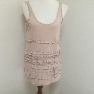 JCrew pink ruffles sleeveless tank Top